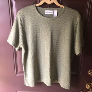 Alfred Dunner olive crisscross summer sweater